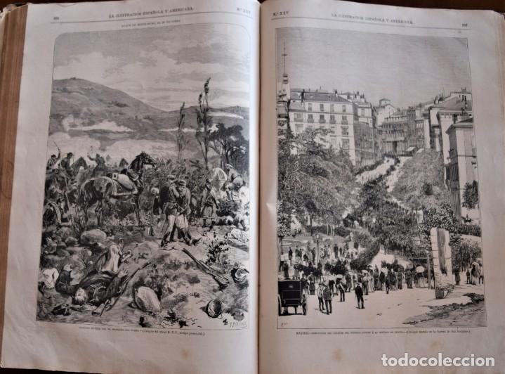 Coleccionismo de Revistas y Periódicos: TOMO LA ILUSTRACIÓN ESPAÑOLA Y AMERICANA AÑO COMPLETO 1874 - TERCERA GUERRA CARLISTA, SITIO BILBAO - Foto 13 - 183513931
