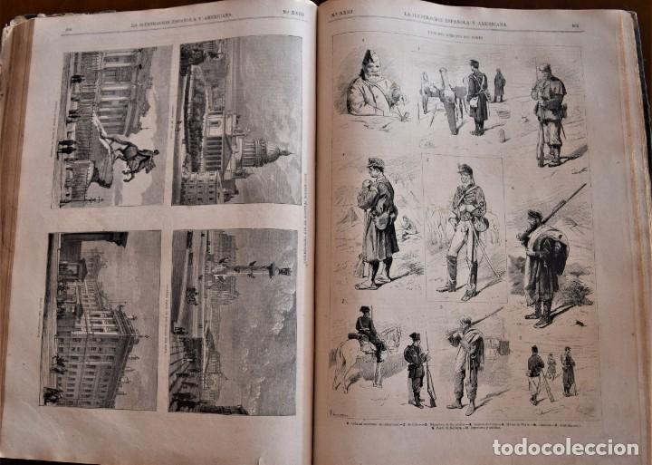 Coleccionismo de Revistas y Periódicos: TOMO LA ILUSTRACIÓN ESPAÑOLA Y AMERICANA AÑO COMPLETO 1874 - TERCERA GUERRA CARLISTA, SITIO BILBAO - Foto 14 - 183513931