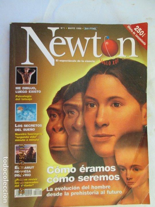 NEWTON REVISTA Nº 1 - COMO ERAMOS Y COMO SEREMOS - LA EVOLUCION DEL HOMBRE (Coleccionismo - Revistas y Periódicos Modernos (a partir de 1.940) - Otros)