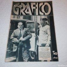 Coleccionismo de Revistas y Periódicos: MUNDO GRÁFICO, EN PORTADA SANJURJO, AÑO 1933.. Lote 183608105