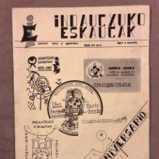 Coleccionismo de Revistas y Periódicos: INDAUTXUKO ESKAUTAK (BILBAO, 1989). FANZINE ORIGINAL DEL GRUPO SCOUT DE INDAUTXU. CELEBRANDO X ANIVE. Lote 135208190