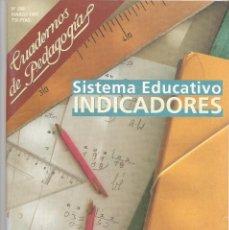 Coleccionismo de Revistas y Periódicos: CUADERNOS DE PEDAGOGÍA Nº 258 MARZO 1997 SISTEMA EDUCATIVO INDICADORES REVISTA. Lote 183710705