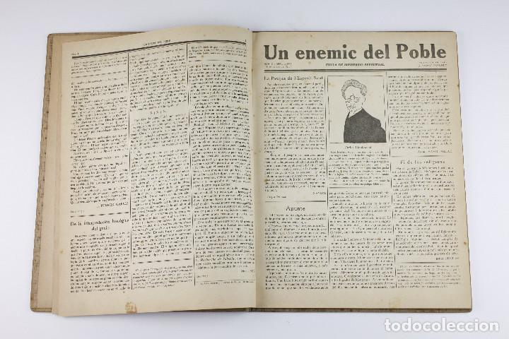 Coleccionismo de Revistas y Periódicos: UN ENEMIC DEL POBLE - JOAN SALVAT-PAPASSEIT. Revista original año 1917-1919. - Foto 7 - 183779416
