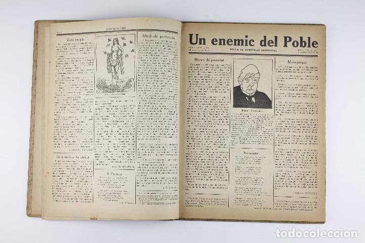 Coleccionismo de Revistas y Periódicos: UN ENEMIC DEL POBLE - JOAN SALVAT-PAPASSEIT. Revista original año 1917-1919. - Foto 8 - 183779416