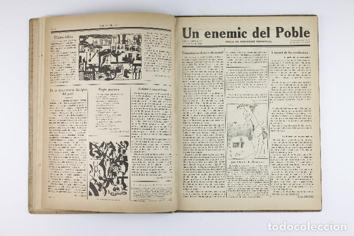 Coleccionismo de Revistas y Periódicos: UN ENEMIC DEL POBLE - JOAN SALVAT-PAPASSEIT. Revista original año 1917-1919. - Foto 9 - 183779416