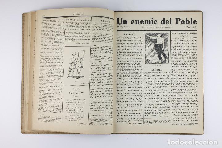 Coleccionismo de Revistas y Periódicos: UN ENEMIC DEL POBLE - JOAN SALVAT-PAPASSEIT. Revista original año 1917-1919. - Foto 11 - 183779416