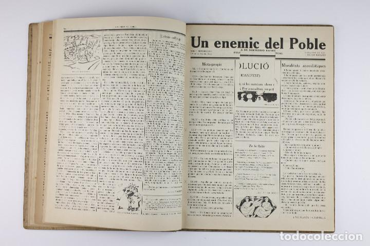 Coleccionismo de Revistas y Periódicos: UN ENEMIC DEL POBLE - JOAN SALVAT-PAPASSEIT. Revista original año 1917-1919. - Foto 12 - 183779416