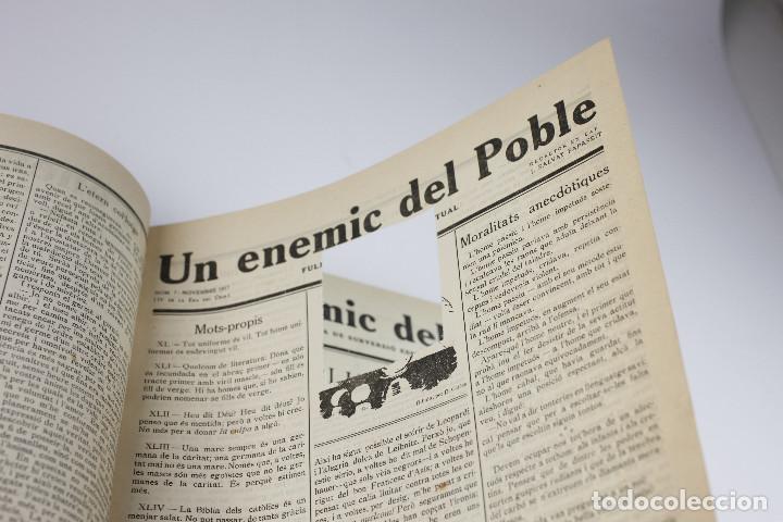Coleccionismo de Revistas y Periódicos: UN ENEMIC DEL POBLE - JOAN SALVAT-PAPASSEIT. Revista original año 1917-1919. - Foto 13 - 183779416