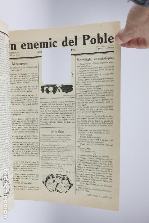 Coleccionismo de Revistas y Periódicos: UN ENEMIC DEL POBLE - JOAN SALVAT-PAPASSEIT. Revista original año 1917-1919. - Foto 15 - 183779416