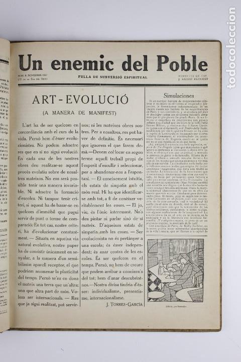 Coleccionismo de Revistas y Periódicos: UN ENEMIC DEL POBLE - JOAN SALVAT-PAPASSEIT. Revista original año 1917-1919. - Foto 16 - 183779416