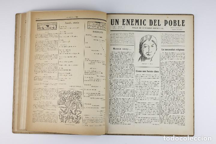 Coleccionismo de Revistas y Periódicos: UN ENEMIC DEL POBLE - JOAN SALVAT-PAPASSEIT. Revista original año 1917-1919. - Foto 19 - 183779416