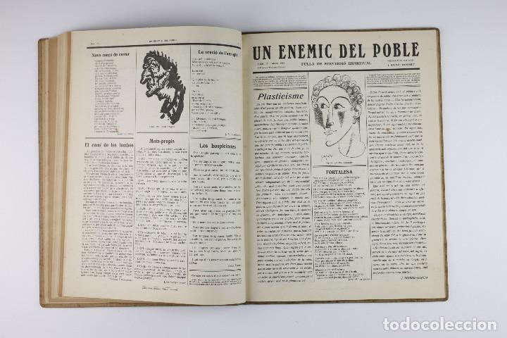 Coleccionismo de Revistas y Periódicos: UN ENEMIC DEL POBLE - JOAN SALVAT-PAPASSEIT. Revista original año 1917-1919. - Foto 21 - 183779416