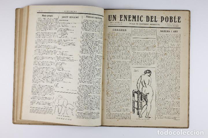 Coleccionismo de Revistas y Periódicos: UN ENEMIC DEL POBLE - JOAN SALVAT-PAPASSEIT. Revista original año 1917-1919. - Foto 22 - 183779416