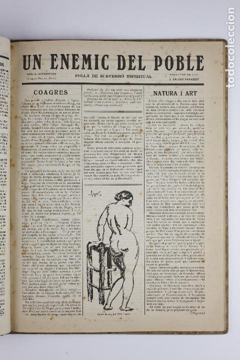 Coleccionismo de Revistas y Periódicos: UN ENEMIC DEL POBLE - JOAN SALVAT-PAPASSEIT. Revista original año 1917-1919. - Foto 23 - 183779416