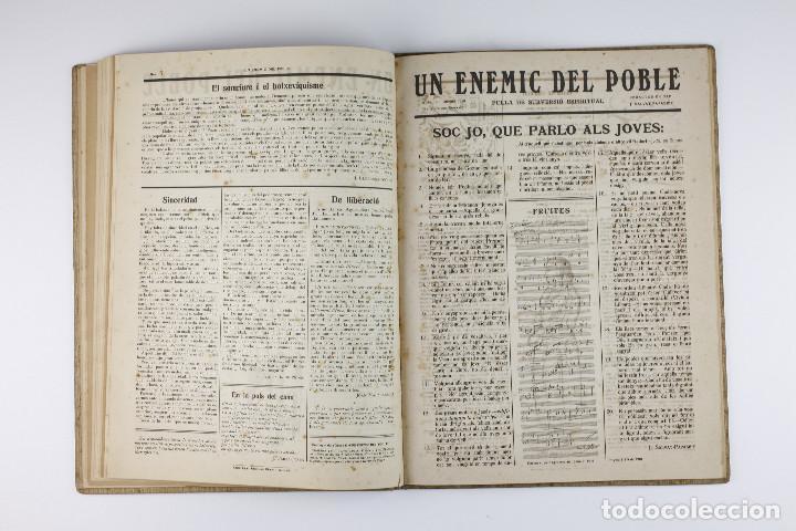 Coleccionismo de Revistas y Periódicos: UN ENEMIC DEL POBLE - JOAN SALVAT-PAPASSEIT. Revista original año 1917-1919. - Foto 24 - 183779416