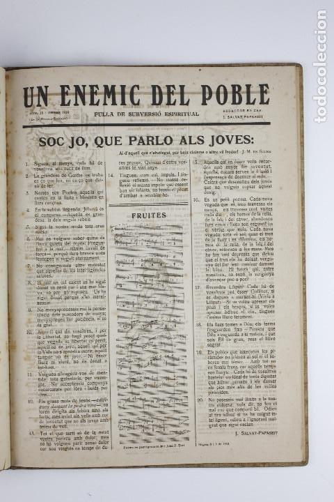 Coleccionismo de Revistas y Periódicos: UN ENEMIC DEL POBLE - JOAN SALVAT-PAPASSEIT. Revista original año 1917-1919. - Foto 25 - 183779416