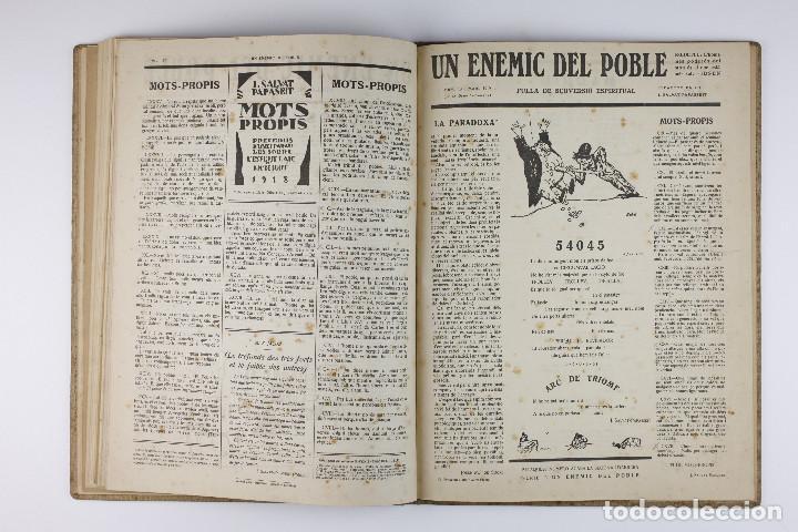 Coleccionismo de Revistas y Periódicos: UN ENEMIC DEL POBLE - JOAN SALVAT-PAPASSEIT. Revista original año 1917-1919. - Foto 28 - 183779416