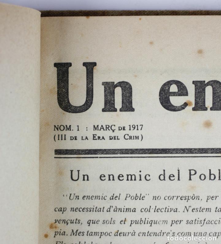 Coleccionismo de Revistas y Periódicos: UN ENEMIC DEL POBLE - JOAN SALVAT-PAPASSEIT. Revista original año 1917-1919. - Foto 32 - 183779416