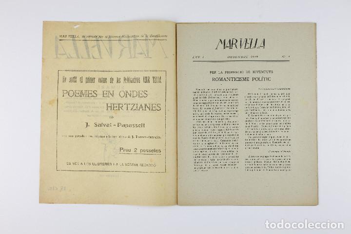 Coleccionismo de Revistas y Periódicos: MAR VELLA - REVISTA NACIONALISTA DE JOVENTUTS. ANY I - DESEMBRE 1919. Nº 4. - Foto 2 - 183782361