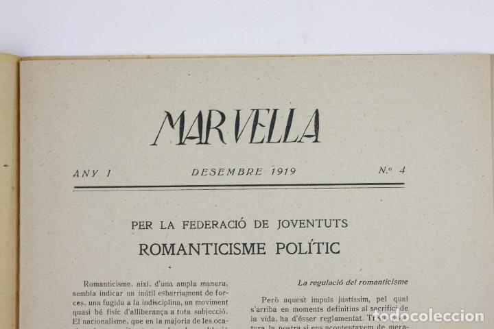 Coleccionismo de Revistas y Periódicos: MAR VELLA - REVISTA NACIONALISTA DE JOVENTUTS. ANY I - DESEMBRE 1919. Nº 4. - Foto 3 - 183782361