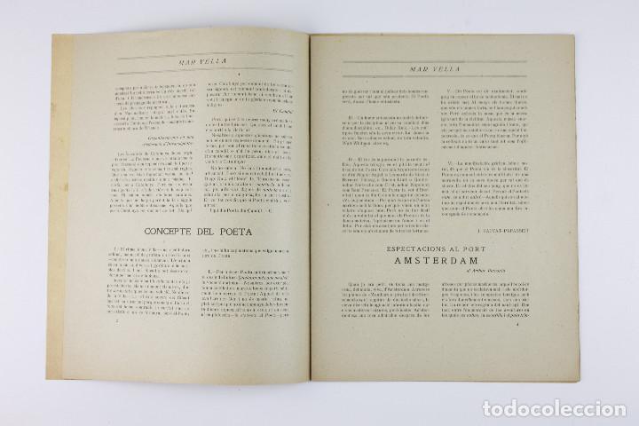 Coleccionismo de Revistas y Periódicos: MAR VELLA - REVISTA NACIONALISTA DE JOVENTUTS. ANY I - DESEMBRE 1919. Nº 4. - Foto 4 - 183782361
