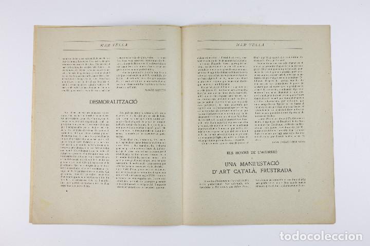 Coleccionismo de Revistas y Periódicos: MAR VELLA - REVISTA NACIONALISTA DE JOVENTUTS. ANY I - DESEMBRE 1919. Nº 4. - Foto 6 - 183782361