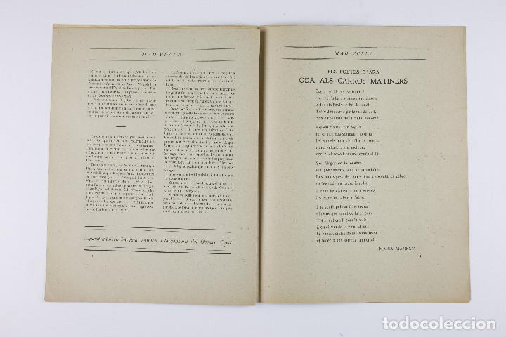 Coleccionismo de Revistas y Periódicos: MAR VELLA - REVISTA NACIONALISTA DE JOVENTUTS. ANY I - DESEMBRE 1919. Nº 4. - Foto 7 - 183782361