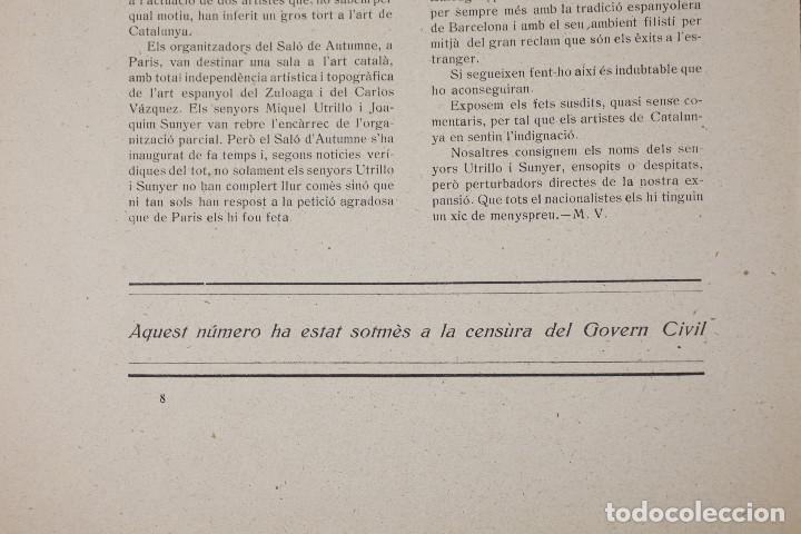 Coleccionismo de Revistas y Periódicos: MAR VELLA - REVISTA NACIONALISTA DE JOVENTUTS. ANY I - DESEMBRE 1919. Nº 4. - Foto 8 - 183782361