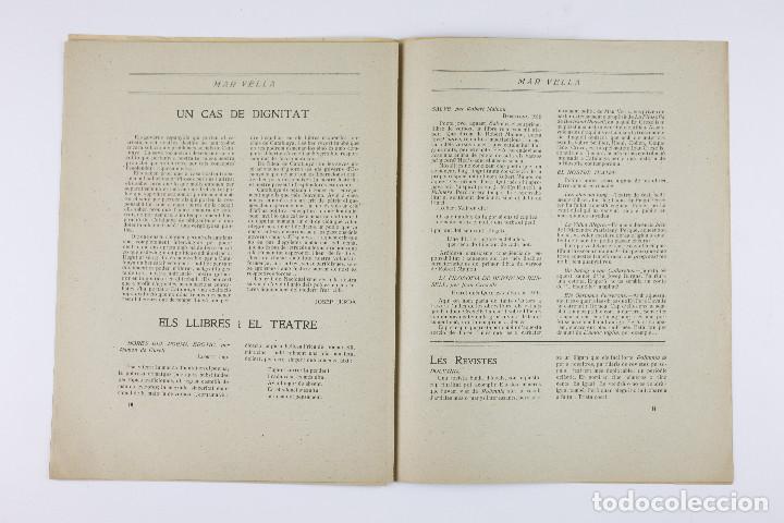 Coleccionismo de Revistas y Periódicos: MAR VELLA - REVISTA NACIONALISTA DE JOVENTUTS. ANY I - DESEMBRE 1919. Nº 4. - Foto 9 - 183782361