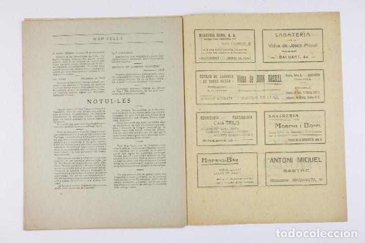 Coleccionismo de Revistas y Periódicos: MAR VELLA - REVISTA NACIONALISTA DE JOVENTUTS. ANY I - DESEMBRE 1919. Nº 4. - Foto 10 - 183782361