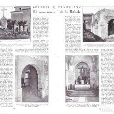 Coleccionismo de Revistas y Periódicos: 1930 HOJAS REVISTA HUELVA LUGARES COLOMBINOS MONASTERIO DE LA RÁBIDA LA FONTANILLA CRUZ HUMILLADERO. Lote 183798653