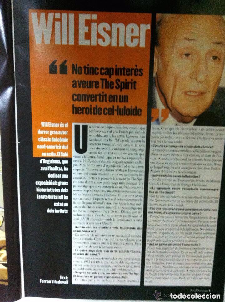 Coleccionismo de Revistas y Periódicos: will eisner (spirit) - avui 2002- en català - Foto 3 - 183818947