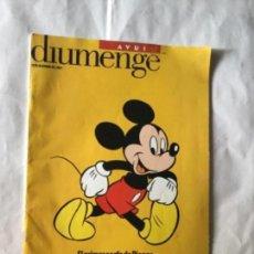 Coleccionismo de Revistas y Periódicos: AVUI- DISNEY (EN CATALÁN)- AÑO 2001. Lote 183819397