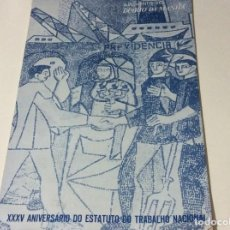 Coleccionismo de Revistas y Periódicos: SUPLEMENTO DO DIARIO DA MANHÃ. XXX ANIVERSÁRIO DO ESTATUTO DO TRABALHO NACIONAL, 1968. Lote 183820062