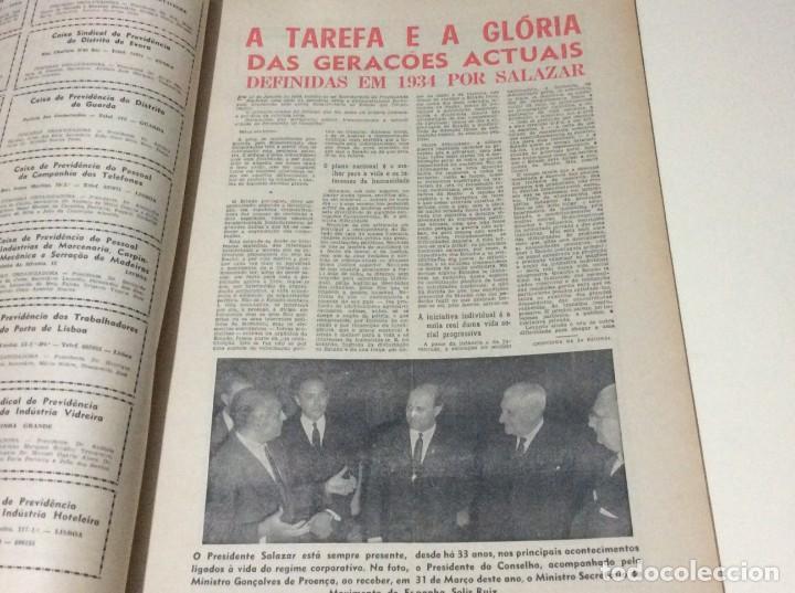 Coleccionismo de Revistas y Periódicos: Suplemento do Diario da manhã, 28 de Maio de 1966. 40 anos de política Social Coporativa. Escasa - Foto 3 - 183824528