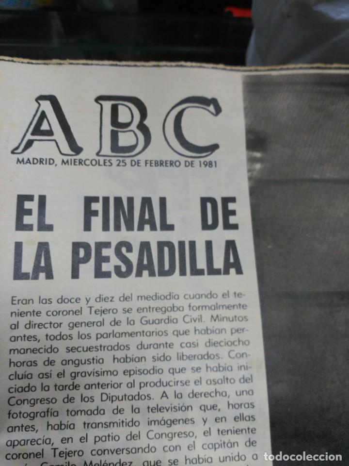 Coleccionismo de Revistas y Periódicos: Lote ABC febrero 1981 - Foto 6 - 183829112