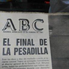 Coleccionismo de Revistas y Periódicos: ABC 25 DE FEBRERO DE 1981. Lote 183829555