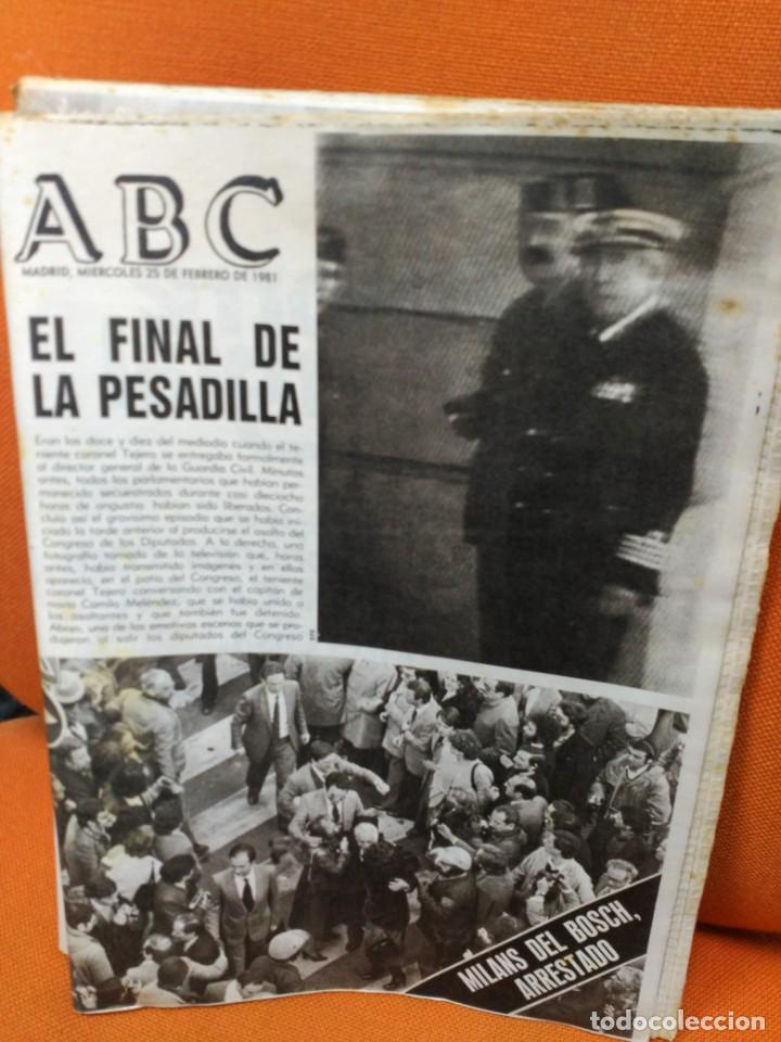 Coleccionismo de Revistas y Periódicos: ABC 25 de febrero de 1981 - Foto 2 - 183829555