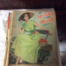 Coleccionismo de Revistas y Periódicos: LOTE 35 REVISTAS EL HOGAR Y LA MODA AÑOS 50. Lote 183829783