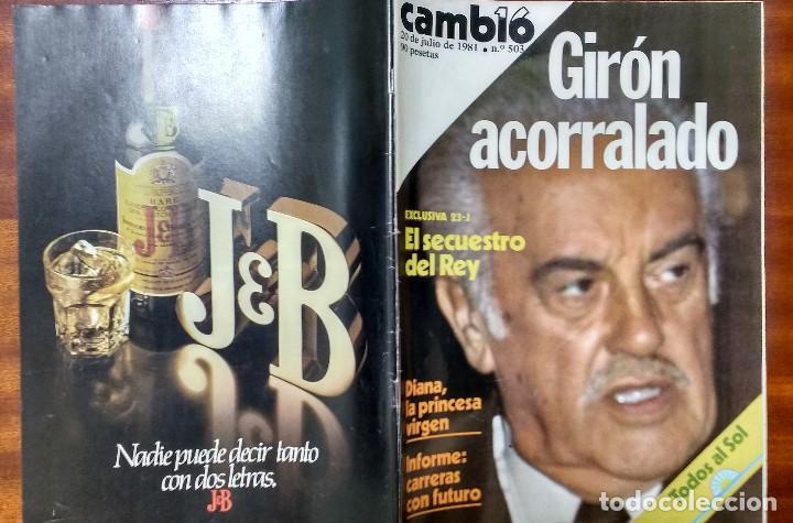 CAMBIO 16 Nº 503-1981 - GIRON ACORRALADO - EXCLUSIVA 23-J EL SECUESTRO DEL REY - MOTO BMW (Coleccionismo - Revistas y Periódicos Modernos (a partir de 1.940) - Otros)