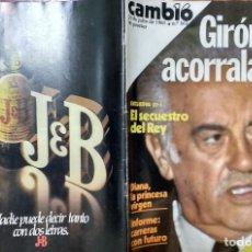 Coleccionismo de Revistas y Periódicos: CAMBIO 16 Nº 503-1981 - GIRON ACORRALADO - EXCLUSIVA 23-J EL SECUESTRO DEL REY - MOTO BMW . Lote 183844753