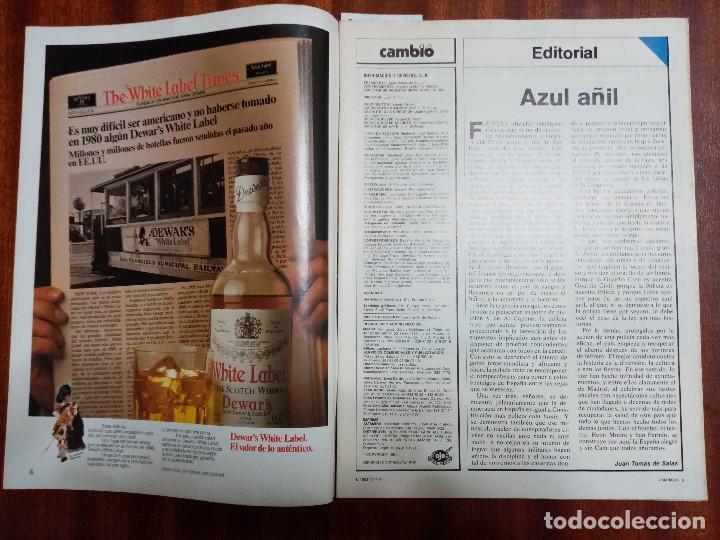 Coleccionismo de Revistas y Periódicos: CAMBIO 16 Nº 503-1981 - GIRON ACORRALADO - EXCLUSIVA 23-J EL SECUESTRO DEL REY - MOTO BMW - Foto 2 - 183844753