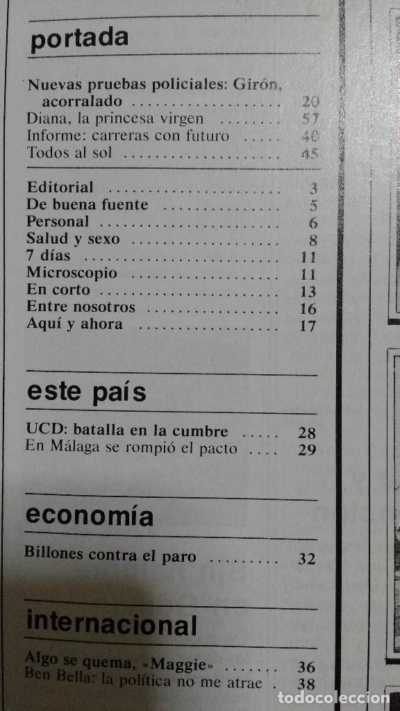Coleccionismo de Revistas y Periódicos: CAMBIO 16 Nº 503-1981 - GIRON ACORRALADO - EXCLUSIVA 23-J EL SECUESTRO DEL REY - MOTO BMW - Foto 4 - 183844753
