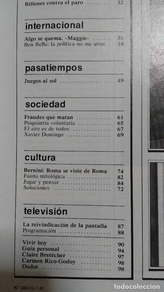 Coleccionismo de Revistas y Periódicos: CAMBIO 16 Nº 503-1981 - GIRON ACORRALADO - EXCLUSIVA 23-J EL SECUESTRO DEL REY - MOTO BMW - Foto 5 - 183844753