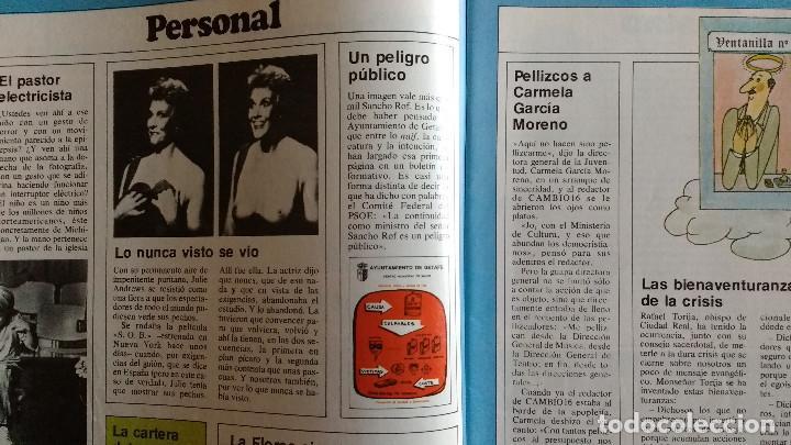 Coleccionismo de Revistas y Periódicos: CAMBIO 16 Nº 503-1981 - GIRON ACORRALADO - EXCLUSIVA 23-J EL SECUESTRO DEL REY - MOTO BMW - Foto 6 - 183844753