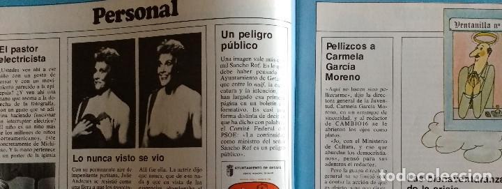 Coleccionismo de Revistas y Periódicos: CAMBIO 16 Nº 503-1981 - GIRON ACORRALADO - EXCLUSIVA 23-J EL SECUESTRO DEL REY - MOTO BMW - Foto 7 - 183844753