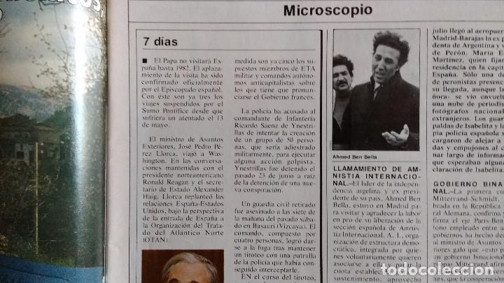 Coleccionismo de Revistas y Periódicos: CAMBIO 16 Nº 503-1981 - GIRON ACORRALADO - EXCLUSIVA 23-J EL SECUESTRO DEL REY - MOTO BMW - Foto 8 - 183844753