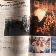 Coleccionismo de Revistas y Periódicos: TODO EL PODER AL EJERCITO EN ARGELIA - 3 PAGINAS AÑO 1992. Lote 183867641