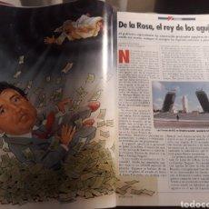 Coleccionismo de Revistas y Periódicos: JAVIER DE LA ROSA , EL REY DE LOS AGUJEROS - 7 PAGINAS - AÑO 1992. Lote 183867751