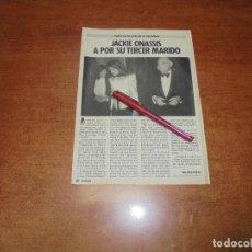 Coleccionismo de Revistas y Periódicos: CLIPPING 1986: JACKIE ONASSIS. Lote 183869313